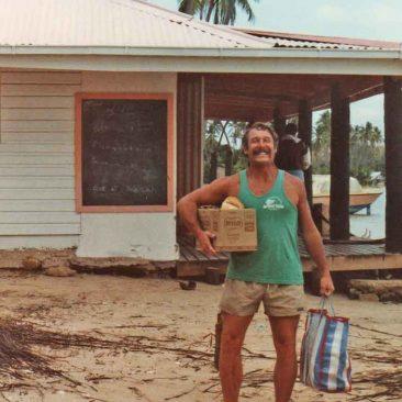 Joe provisioning at Dick's Place, Malolo Lailai, Fiji