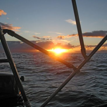 New Zealand to Fiji passage sunset
