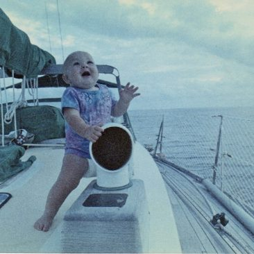 Oh frabjous day! Kali enjoying life on a boat at 8 months old.