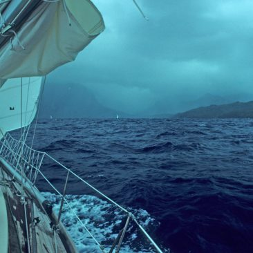 Land Ho! Arriving in the Marquesas after finishing our first open ocean passage, and 21 days at sea...