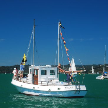 Meola as committee boat for the Tall Ships Regatta
