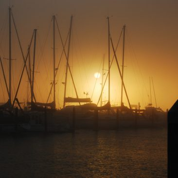 Early morning sunrise from the Opua Marina