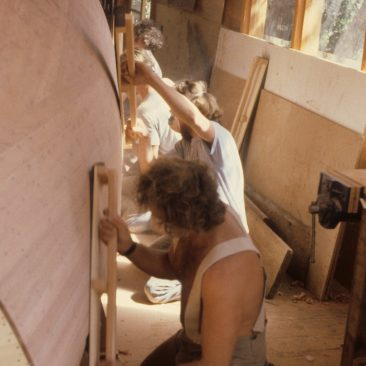 sanding party of friends